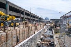 西雅图防波堤建筑 库存照片