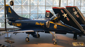 西雅图,华盛顿州,美国-双十国庆, 2014年:飞行博物馆是最大的私有空气和空间 免版税库存图片