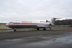 西雅图,华盛顿,美国- 2017年1月27日, :美国航空波音727-200 MSN 21386,注册N874AA,安装 免版税库存照片