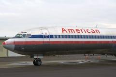 西雅图,华盛顿,美国- 2017年1月27日, :美国航空波音727-200 MSN 21386,注册N874AA,安装 免版税图库摄影