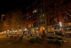 西雅图, WA - 2011年3月23日 先驱正方形 街市 免版税库存照片