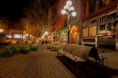 西雅图, WA - 2011年3月23日 先驱正方形 街市 库存图片