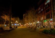 西雅图, WA - 2011年3月23日 先驱正方形 街市 库存照片
