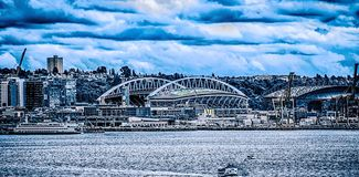 西雅图- 2017年6月:世纪连接字段体育场 西雅图的家 免版税库存照片