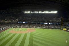 西雅图水手对la天使2015年棒球比赛 免版税库存图片
