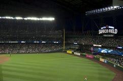 西雅图水手对la天使2015年棒球比赛 免版税库存照片