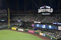 西雅图水手对la天使2015年棒球比赛 免版税图库摄影