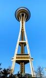 西雅图- 3月21, :空间针在2013年3月21日的西雅图 免版税库存图片