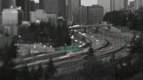 西雅图I-5交通时间间隔掀动转移 股票视频