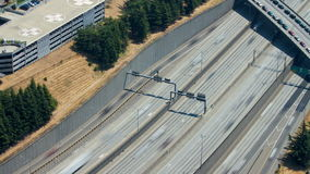 西雅图I-5交通时间间隔 股票录像