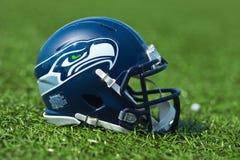 西雅图Seahawkss美国橄榄球联盟盔甲 免版税图库摄影