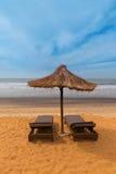 西非冈比亚-天堂海滩 免版税图库摄影