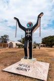 西非冈比亚-纪念奴隶制的废止的纪念碑 库存图片