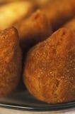 巴西食物:coxinhas 库存照片