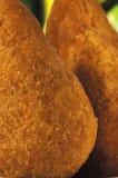 巴西食物:coxinhas 图库摄影