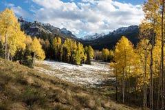 从西马伦河谷观看的花花公子峰顶 免版税库存图片