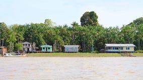 巴西,圣安娜:一个村庄在雨林里 免版税库存图片