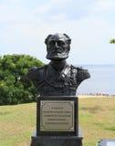 巴西,马瑙斯/Ponta内格拉:Joaquim里斯本海军上将雕塑  免版税库存照片