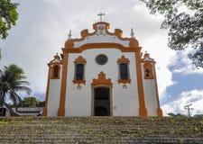 巴西,费尔南多-迪诺罗尼亚岛,教会 免版税图库摄影