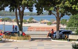 巴西, Santarém/Alter做Chão :旅游业在巴西-淡水海滩 库存照片