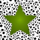 巴西2014年世界足球冠军,星形状球illustra 图库摄影