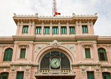 西贡中央邮局(1891)。胡志明市,越南 库存图片