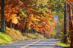西维吉尼亚农村高速公路 图库摄影