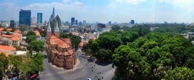 西贡巴黎圣母院  免版税库存图片