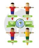 巴西2014小组B 库存图片