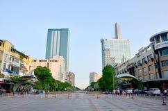 西贡市鸟瞰图都市风景  免版税库存照片