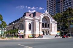 西贡歌剧院 库存照片