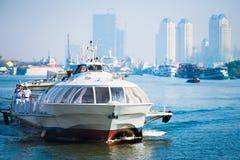 从西贡的水翼艇Vungtau的 库存照片