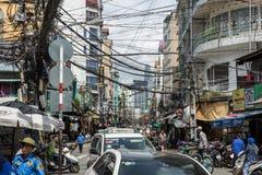西贡繁忙的路  免版税库存图片