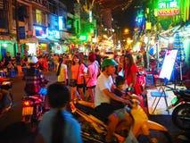 西贡胡志明市在晚上 越南 库存图片
