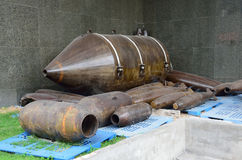 西贡,越南, 2015年1月, 20日 没人, U空投的炸弹 S 在越南战争期间的力量 图库摄影