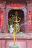 西贡,越南- 2014年1月27日:菩萨雕象在玉塔 免版税库存图片