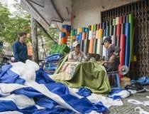 西贡, Ho池氏分钟城市。 免版税库存图片