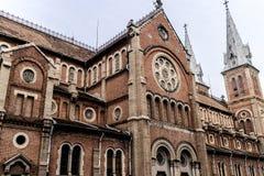 西贡Notre Dame大教堂 库存图片