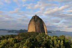 巴西de janeiro山里约sugarloaf 库存图片
