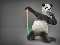 要人字符动物熊熊猫唱歌曲话筒 库存照片