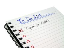 要做名单-为一般数据保护章程GDPR做准备 免版税库存照片