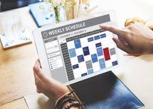 要做名单任命概念的每周日程表 免版税库存图片
