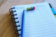 要做在纸的名单的计划 免版税图库摄影