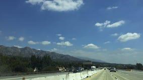 主要公路交通在Sunland-Tujunga,加州 免版税库存照片