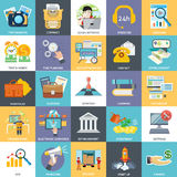主要商业运作、活动和组分 免版税库存照片