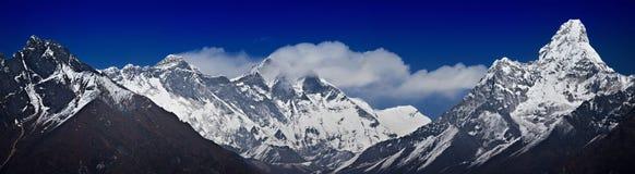 主要喜马拉雅范围 免版税库存照片