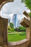 主要塔的看法从公园的 免版税库存图片