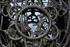 主要塔的门在华盛顿国民大教堂的 库存图片