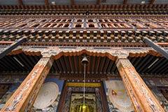 主要大厅庄严入口Tashichhoe的Dzong 免版税库存图片