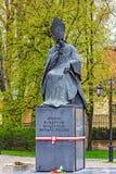 主要大主教斯蒂芬Wyszynski雕象  免版税库存图片